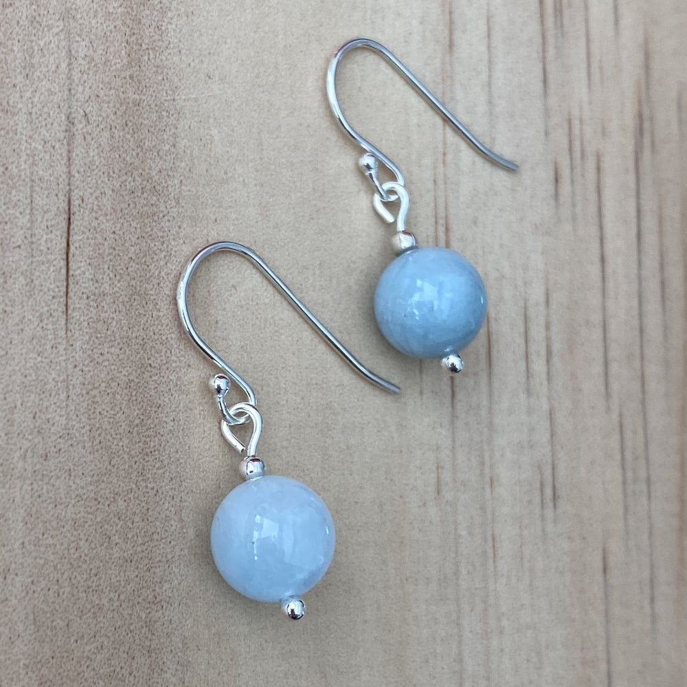 Aquamarine sterling silver earrings - Empaness