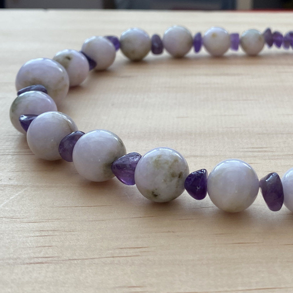 Burma Jade & Amethyst Necklace - Empaness
