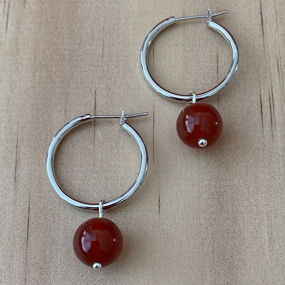 Carnelian Hoop Earrings - Empaness