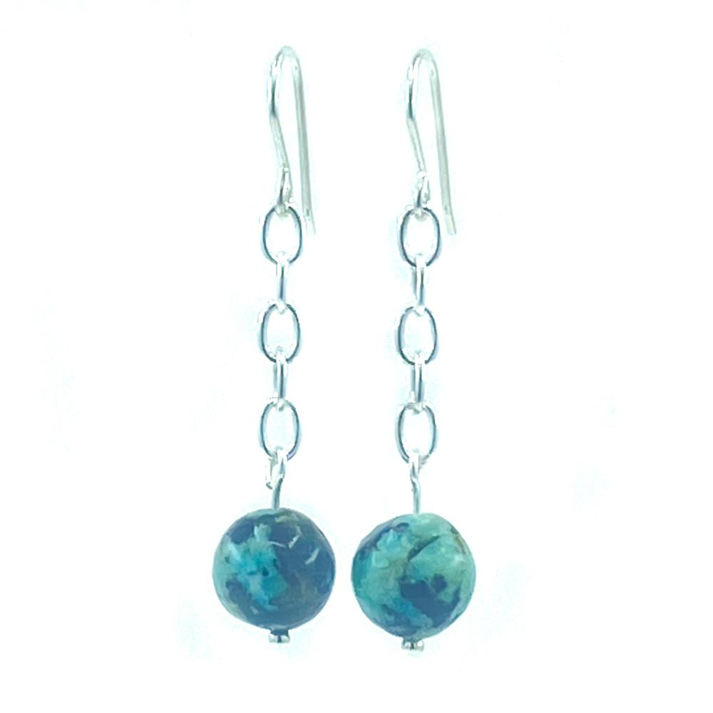 Sterling Silver African Turquoise Earrings - Empaness
