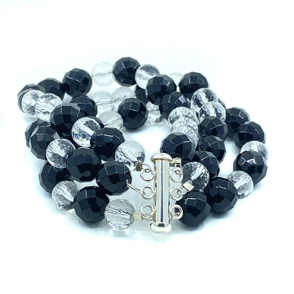 Black Onyx & Clear Quartz Bracelet - Empaness