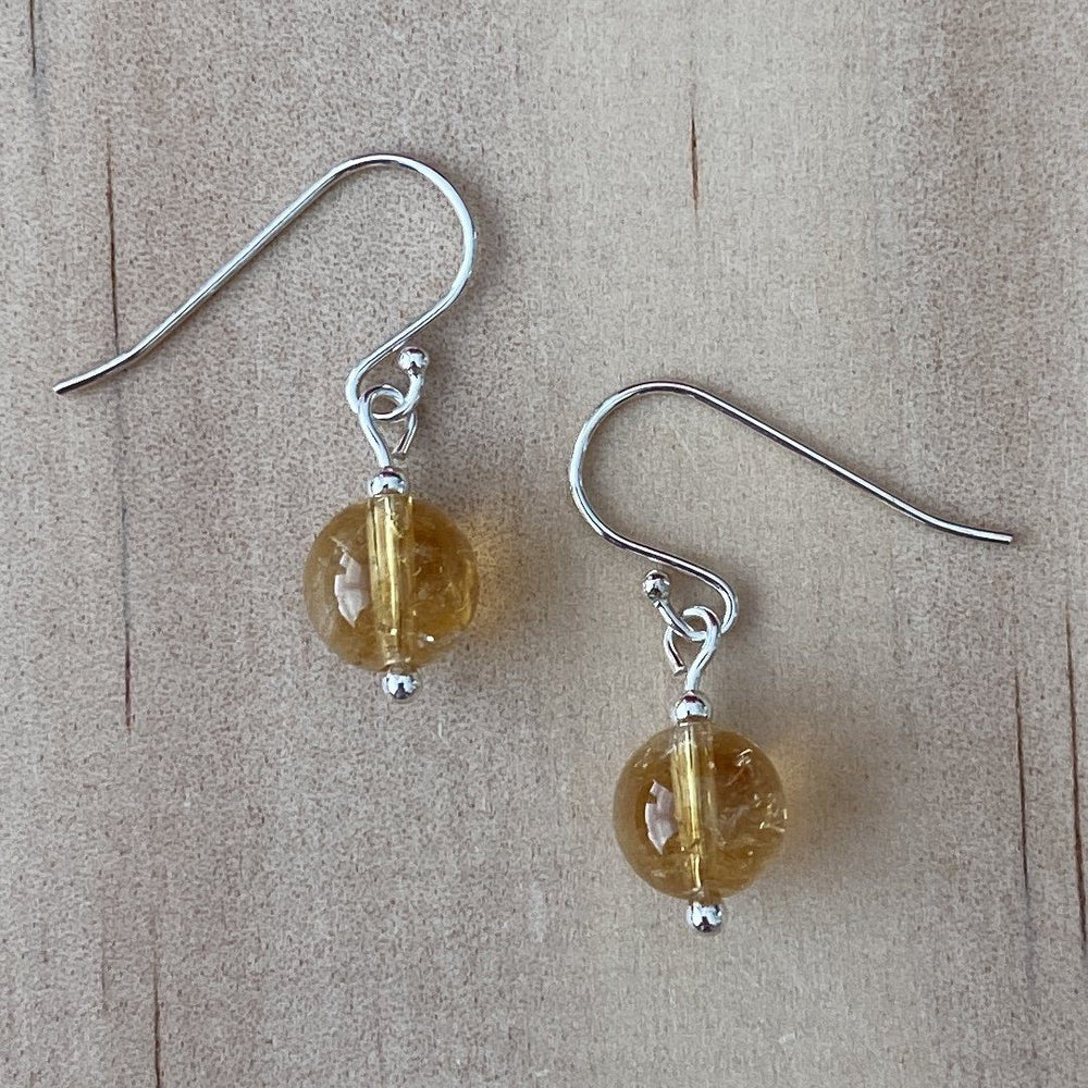 Citrine Sterling Silver Earrings - Empaness