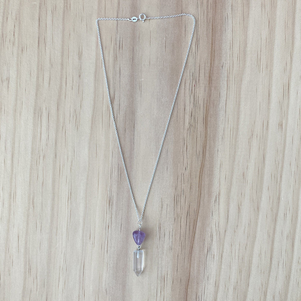 Clear Quartz & Amethyst Necklace - Empaness
