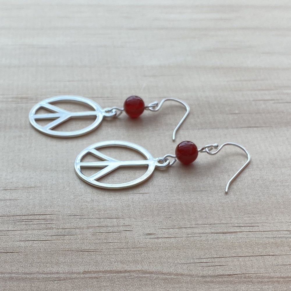 Peace Charm & Carnelian Earrings - Empaness