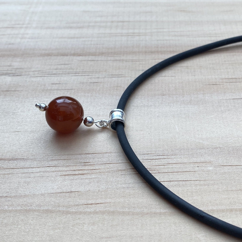 Sterling Silver Carnelian Necklace - Empaness
