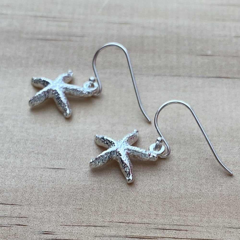 Starfish Charm Sterling Silver Earrings - Empaness