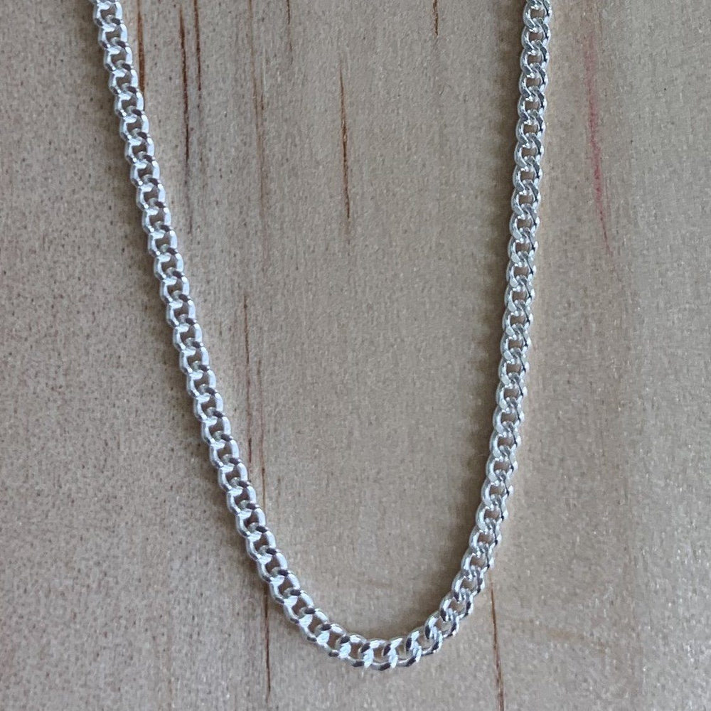 Sterling Silver 45cm Curb Link Chain - Empaness