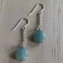 Load image into Gallery viewer, Amazonite Sterling Silver Earrings