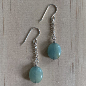 Amazonite Sterling Silver Earrings