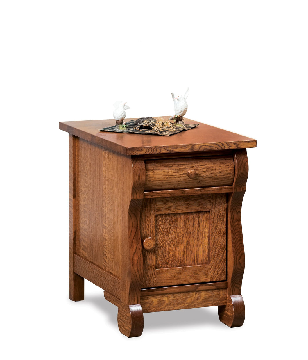 End Table Old Classic Sleigh Eclosed