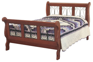 Classic Wrough Iron Sleigh Bed