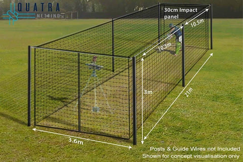Sports Cage Fully Enclosed 21m x 3.6m - Net Only - Haverford