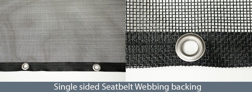 Single sided Seatbelt Webbing backing
