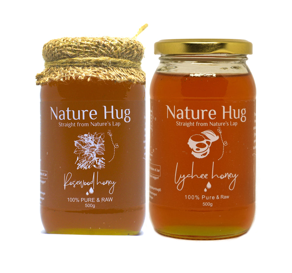 Raw Rosewood Honey(500g) & Raw Lychee Honey(500g) Combo