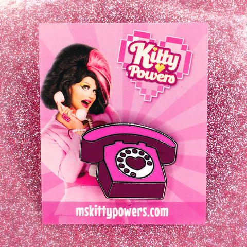 Kitty Powers 'Kitty Phone' Enamel Pin