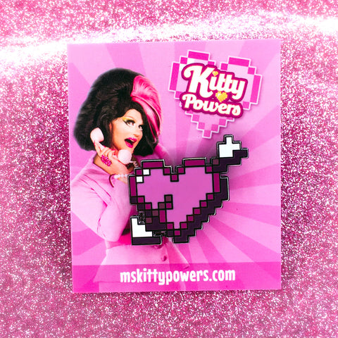 Kitty Powers 'Pixel Love' Enamel Pin