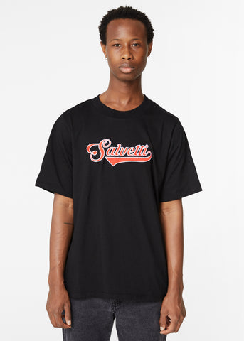 BLACK 'BASEBALL' T-SHIRT