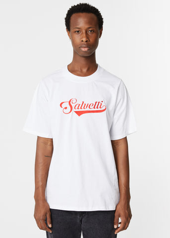 WHITE 'BASEBALL' T-SHIRT