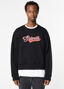 BLACK 'BASEBALL' SWEATSHIRT