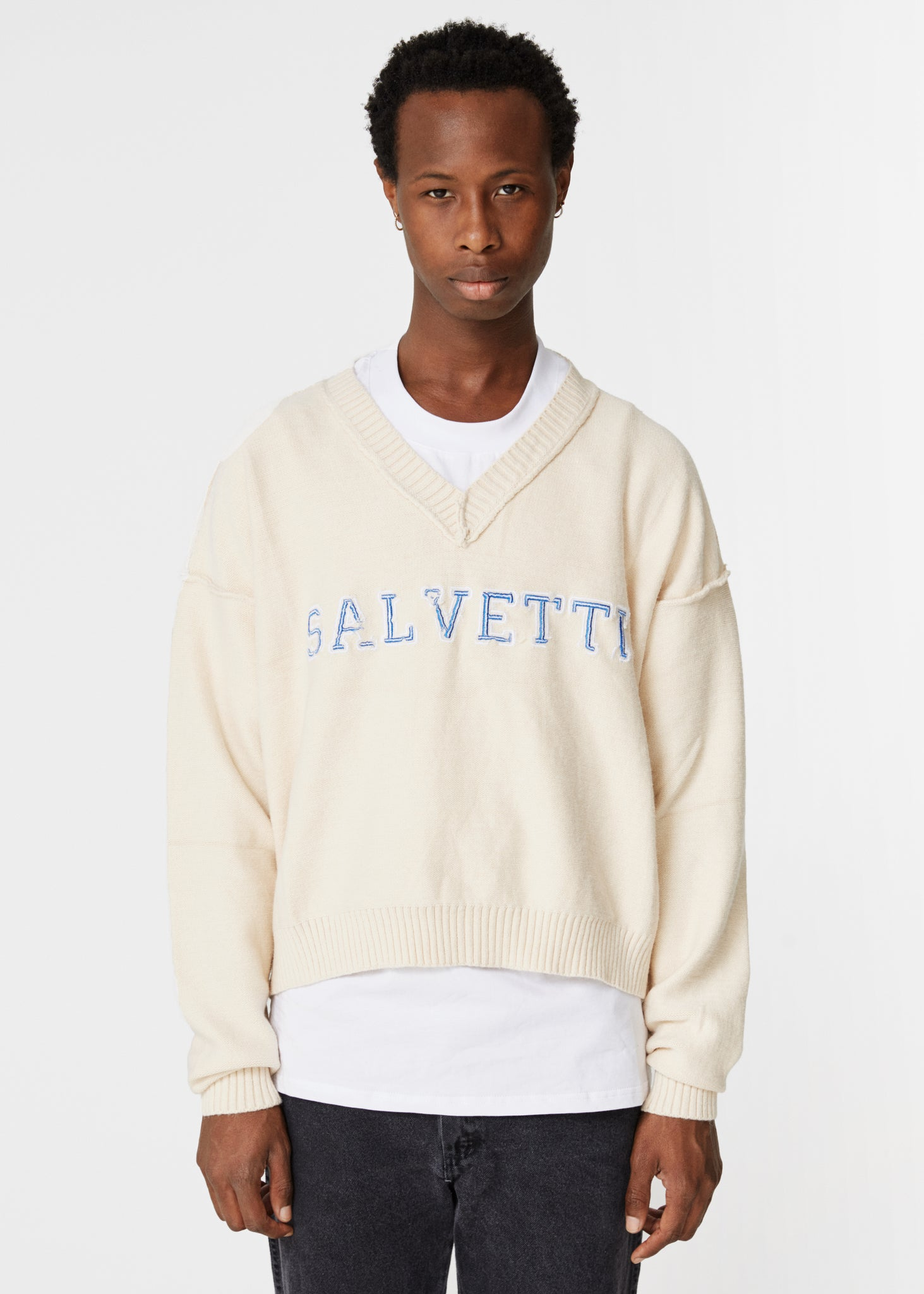 BEIGE 'COLLEGE' KNIT
