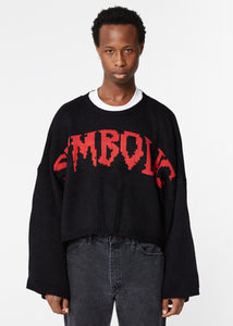BLACK 'SYMBOLIC' KNIT
