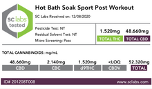 Load image into Gallery viewer, BERDE CBD + ARNICA HOT BATH SOAK (Post Workout) - BERDE