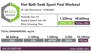 BERDE CBD + ARNICA HOT BATH SOAK (Post Workout) - BERDE