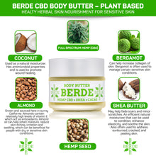 Load image into Gallery viewer, BERDE CBD BODY BUTTER - BERDE