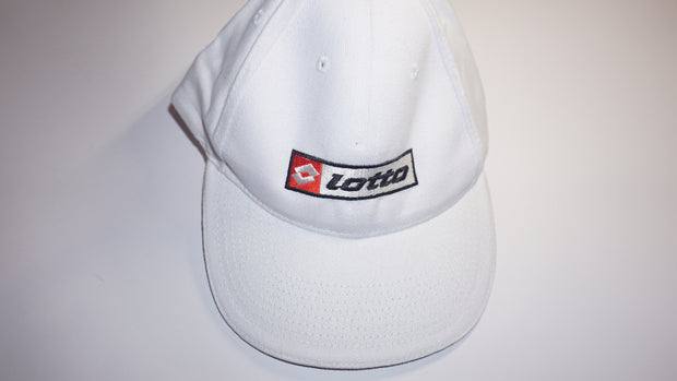 Lotto Cap (White - Red Lotto Logo)