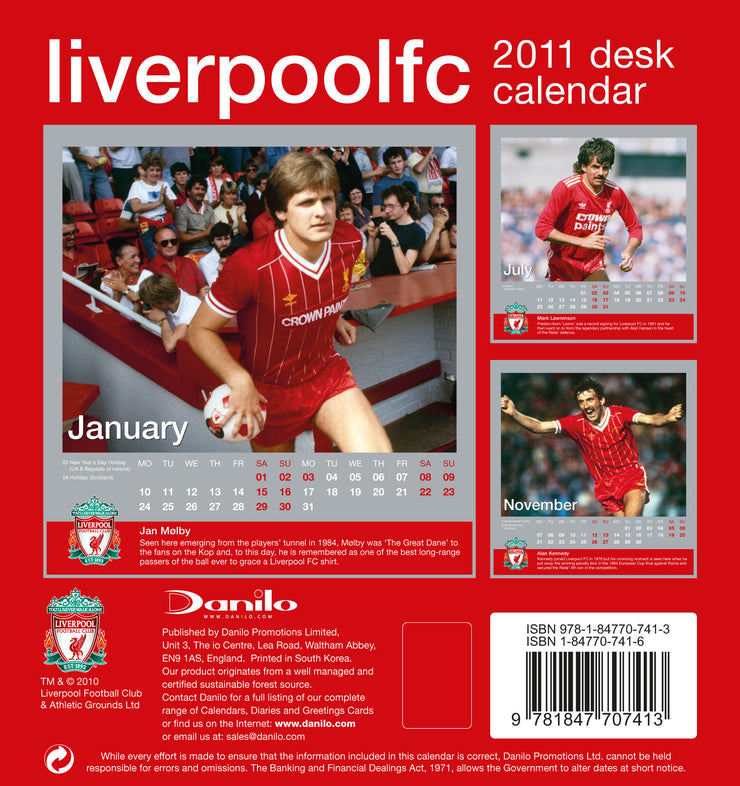 2011 Desk Calendar (Liverpool Legends)