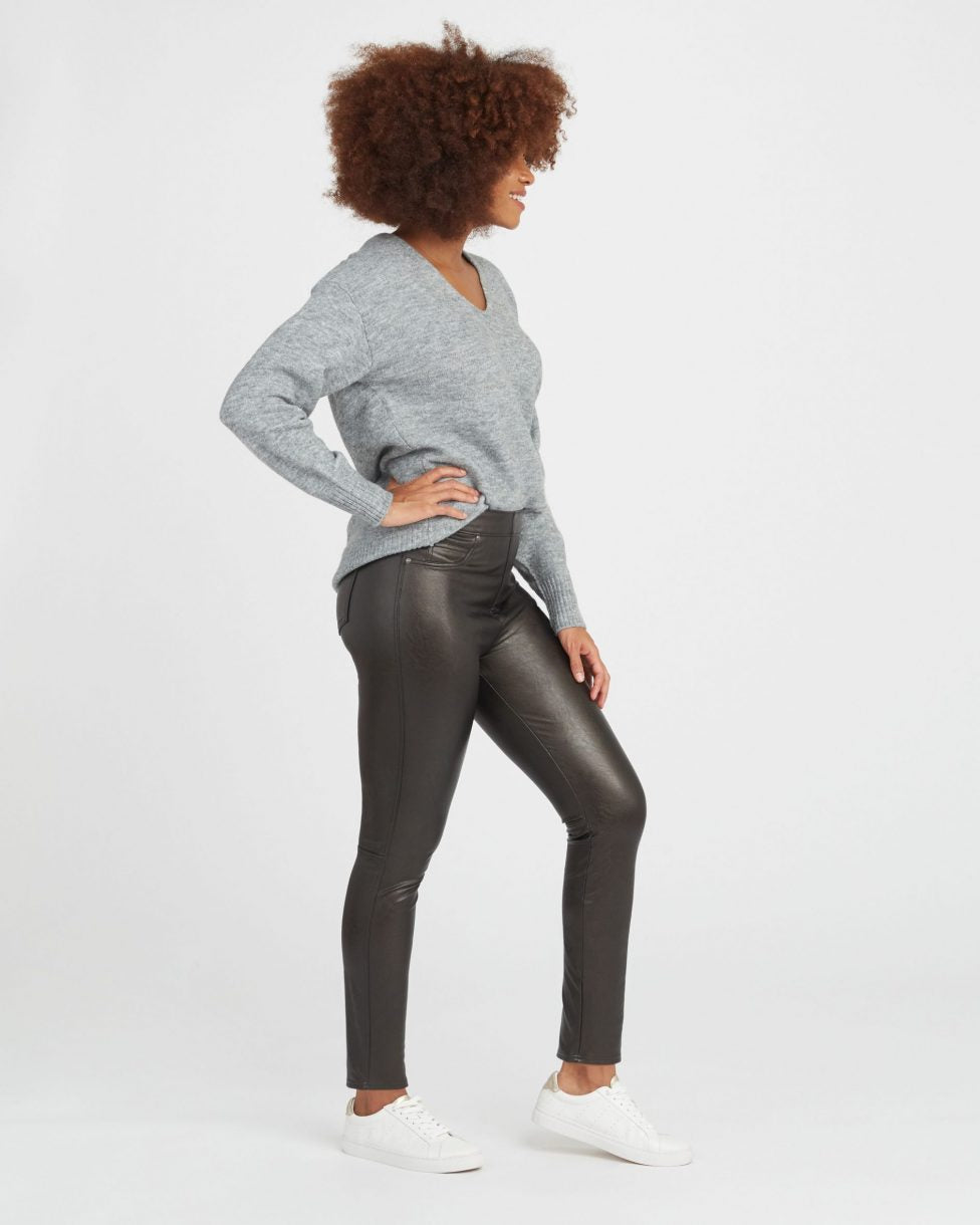 Spanx Leather Like Ankle Skinny Pants