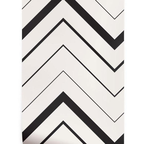 removable wallpaper_modern chevron_blackwhite
