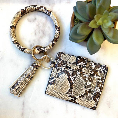 Keychain Ring Bangle with Cardholder (4 Styles)