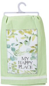 "Dish Towel-""My Happy Place"""