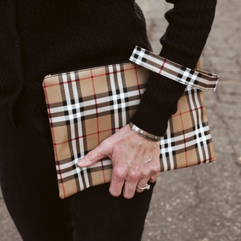 English Plaid Clutch/Wristlet