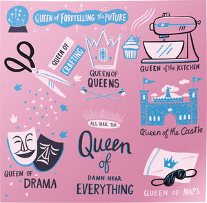 "Dish Towel-""Queen of Everything"""