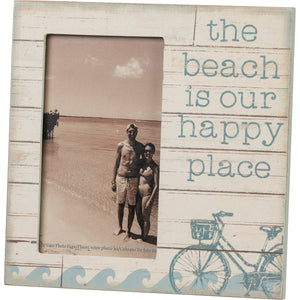 The Beach Is Our Happy Place Frame