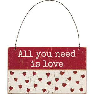 All You Need Is Love Hanging Tag