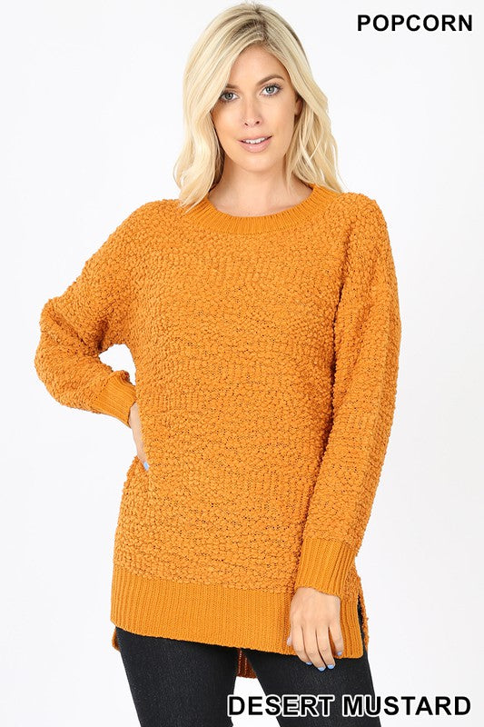 Hi-Low Popcorn Sweater