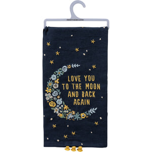 Love You To The Moon And Back-Dish Towel