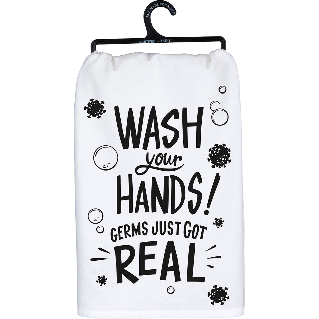 Wash Your Hands- Dish Towel