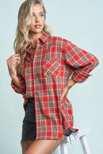 Load image into Gallery viewer, Boyfriend Button Down Plaid Shirt