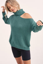 Load image into Gallery viewer, Cutout Shoulder Turtleneck Sweater (3 Colors)
