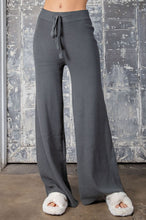 Load image into Gallery viewer, Charcoal Ribbed High Waist Pants