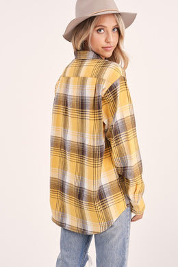 Button Down Plaid Shirt (2 Colors)