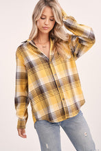 Load image into Gallery viewer, Button Down Plaid Shirt (2 Colors)