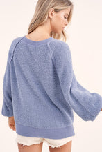 Load image into Gallery viewer, Carino Textured Sweater in Steel Blue