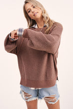 Load image into Gallery viewer, Carino Textured Sweater in Chocolate