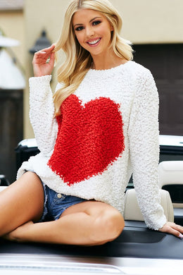 Popcorn Heart Sweater