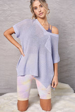Load image into Gallery viewer, Baby Blue Short Sleeve Sweater